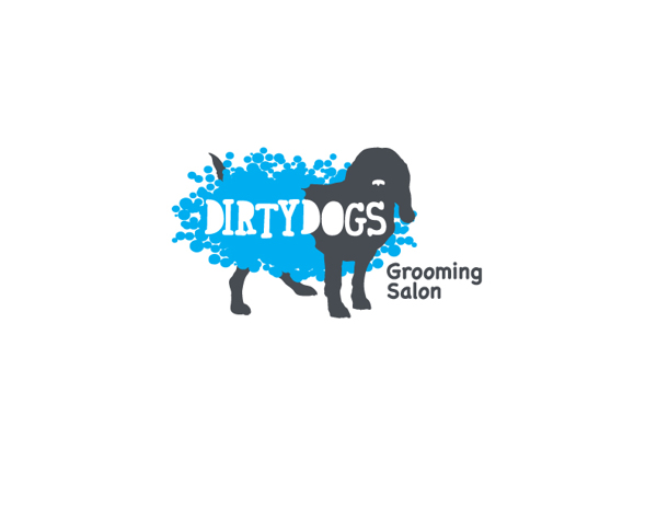Dirty Dog Grooming Salon Logo - Bonfire Media | Grand Rapids ...
